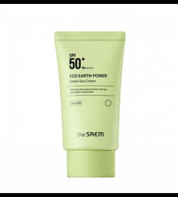 THE SAEM Sun Крем солнцезащитный Eco Earth Power Green Sun Cream 50гр