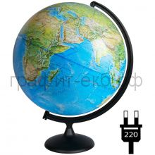 Глобус 42см Глобусный мир физико-политический с подсветкой 10355