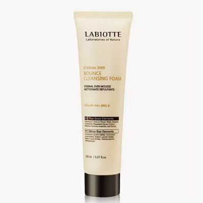 Пенка для умывания LABIOTTE  ENTERNAL EVER BOUNCE  CLEANSING FOAM 150мл