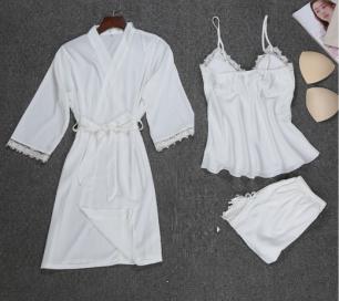 комплект халат+ топ с шортами, размеры S M L, модель 450