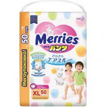 Японские подгузники-трусики Merries Мега XL 50 12-22 кг