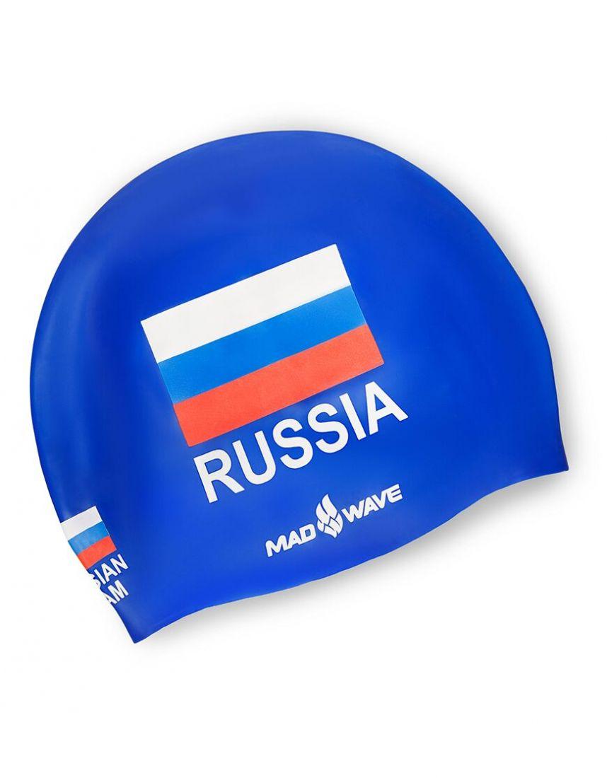 Шапочка для плавания силиконовая Mad Wave Print Russian Team