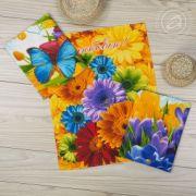 Комплект кухонных полотенец Цветник 45х60см 3шт