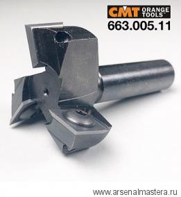 CMT 663.005.11 Фреза Z3 с тремя сменными поворотными ножами для слэбов HM Z3 D38x12x60 RH S12 RH