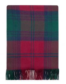 Легкий шотландский плед, тартан клана Линдси LINDSAY MODERN TARTAN LAMBSWOOL, плотность 6.