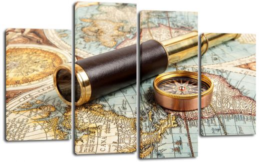 Модульная картина Труба и компас