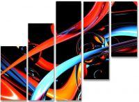 Модульная картина Цветные полосы