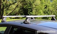 Багажник на крышу Mazda 5 mpv 2010-..., Атлант, аэродинамические дуги, опора E