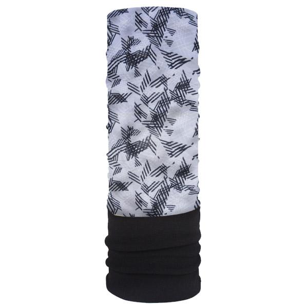 Мультишарф с флисом серого цвета