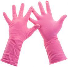 Универсальные резиновые перчатки Frida розовые размер S 2226000