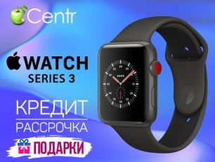 Apple iWatch S3+Cellular Space Gray+Gray 42mm