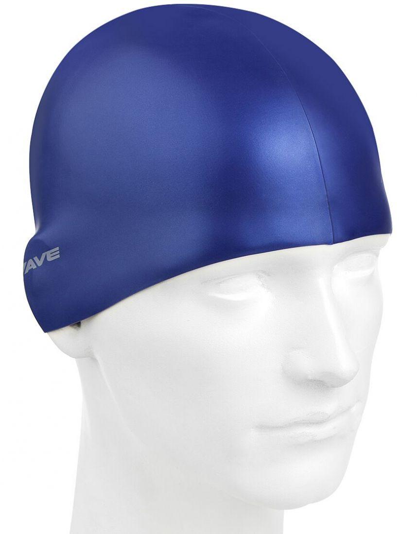 Шапочка для плавания силиконовая Mad Wave Metal Silicone Solid