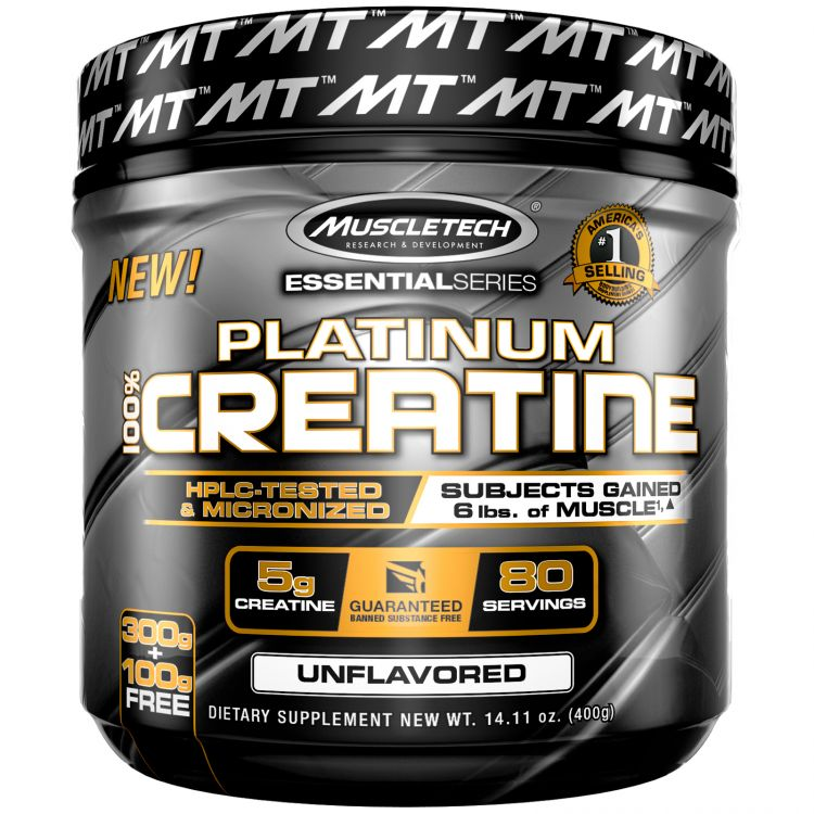 100% Platinum Creatine Muscle Tech (400 гр)