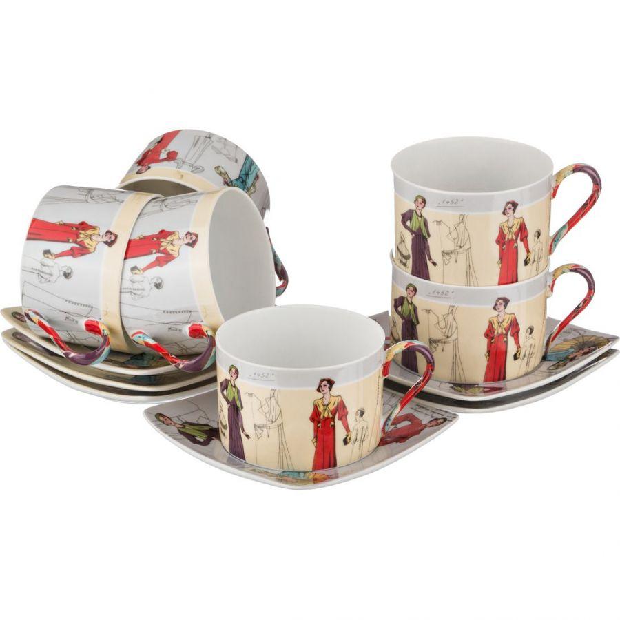Чайный набор на 6 персон, 12 пр., 180 мл