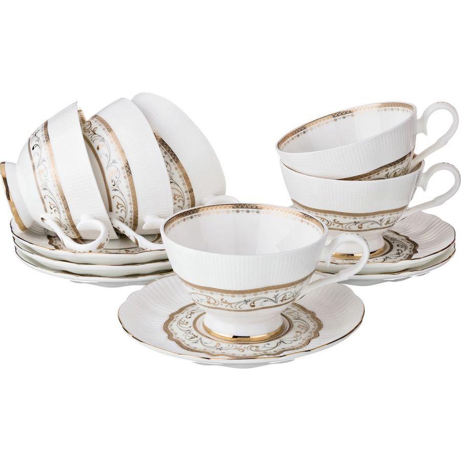 Чайный набор на 6 персон, 12 пр., 210 мл