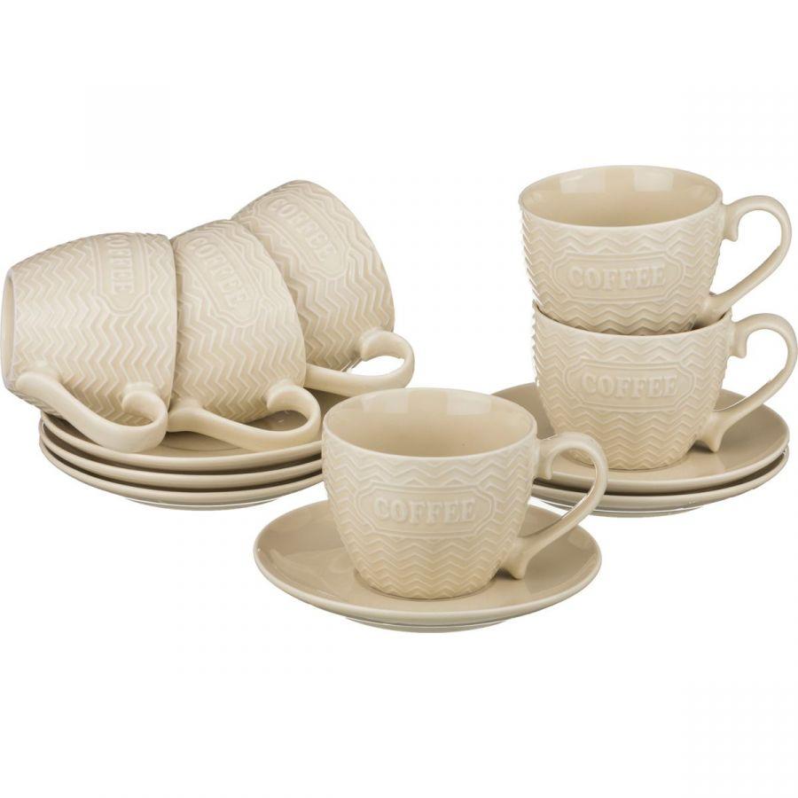 Чайный набор на 6 персон, 12 пр., 300 мл, h=7 см