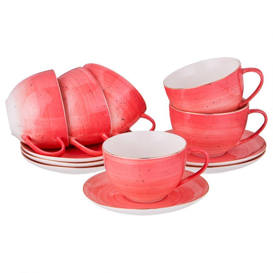 "Чайный набор на 6 персон ""Колор де аква"", 12 пр., 220 мл"