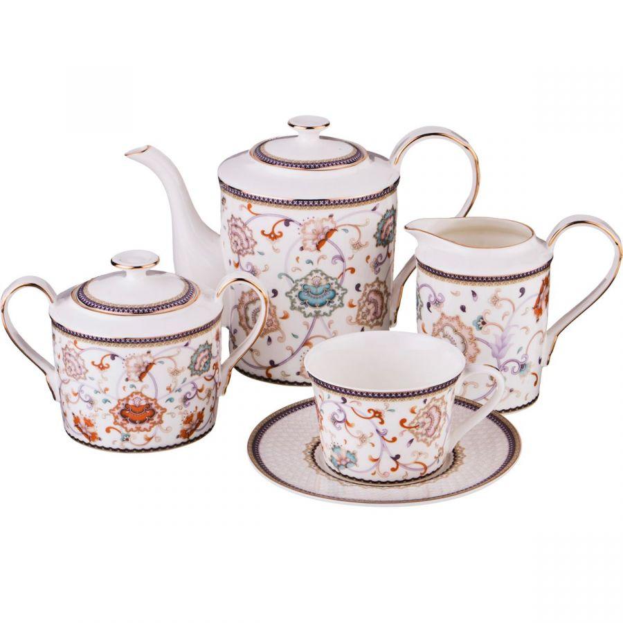 Чайный сервиз на 6 персон, 15 пр., 900/200/400/350 мл