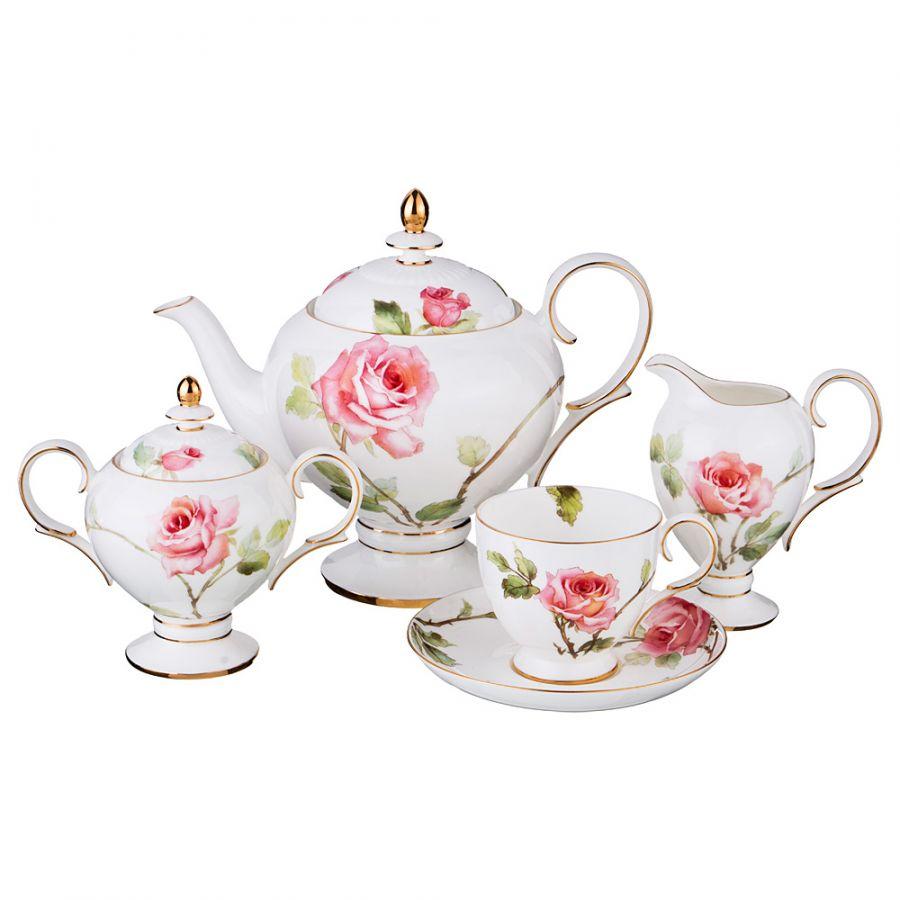 "Чайный сервиз на 6 персон ""Амелия"", 15 пр., 1000/240 мл"