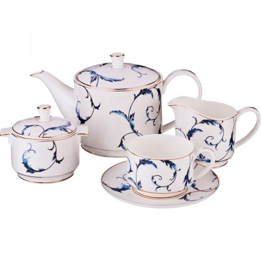 Чайный сервиз на 6 персон, 15 пр., 1000/240/300/300 мл
