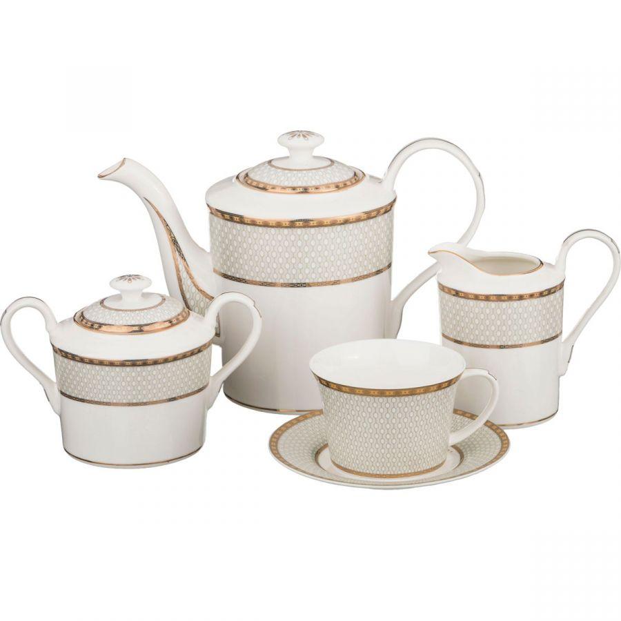 Чайный сервиз на 6 персон, 15 пр., 1600/275/550/400 мл