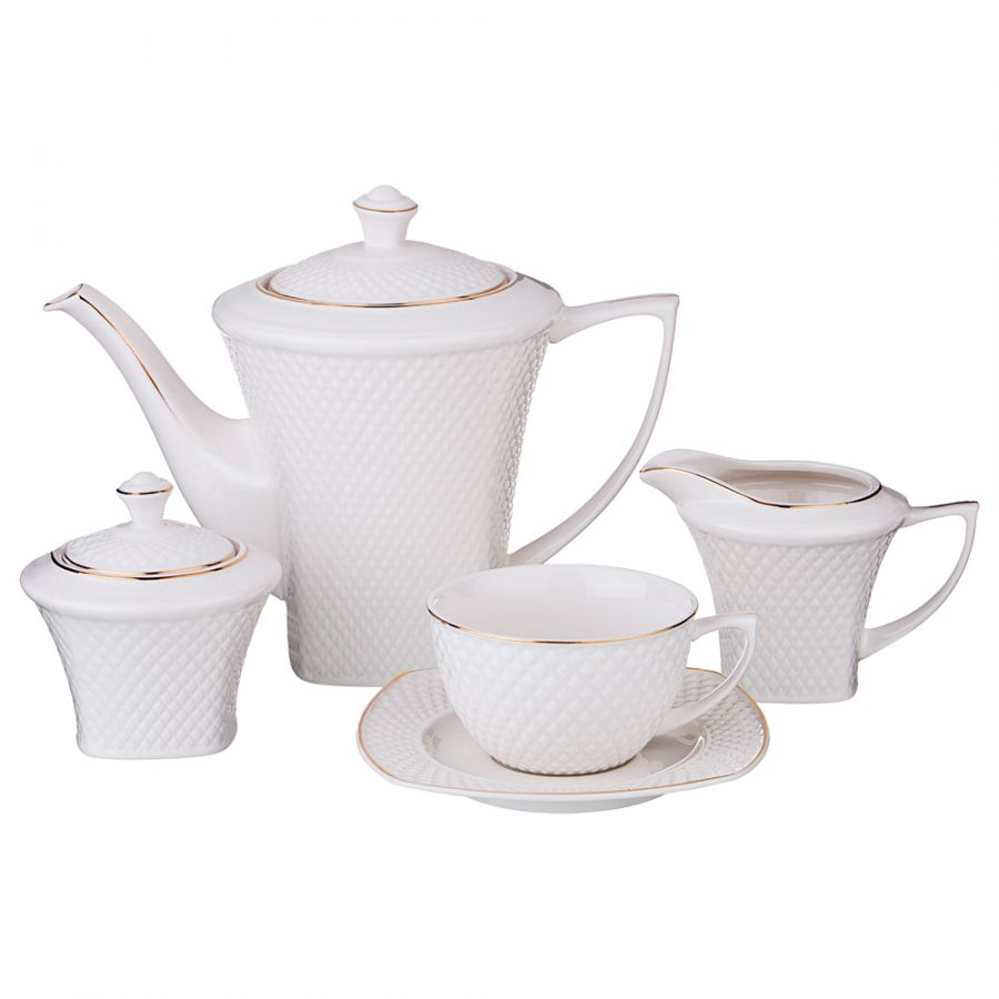 "Чайный сервиз на 6 персон ""Диаманд голд"", 15 пр., 1100/220 мл"