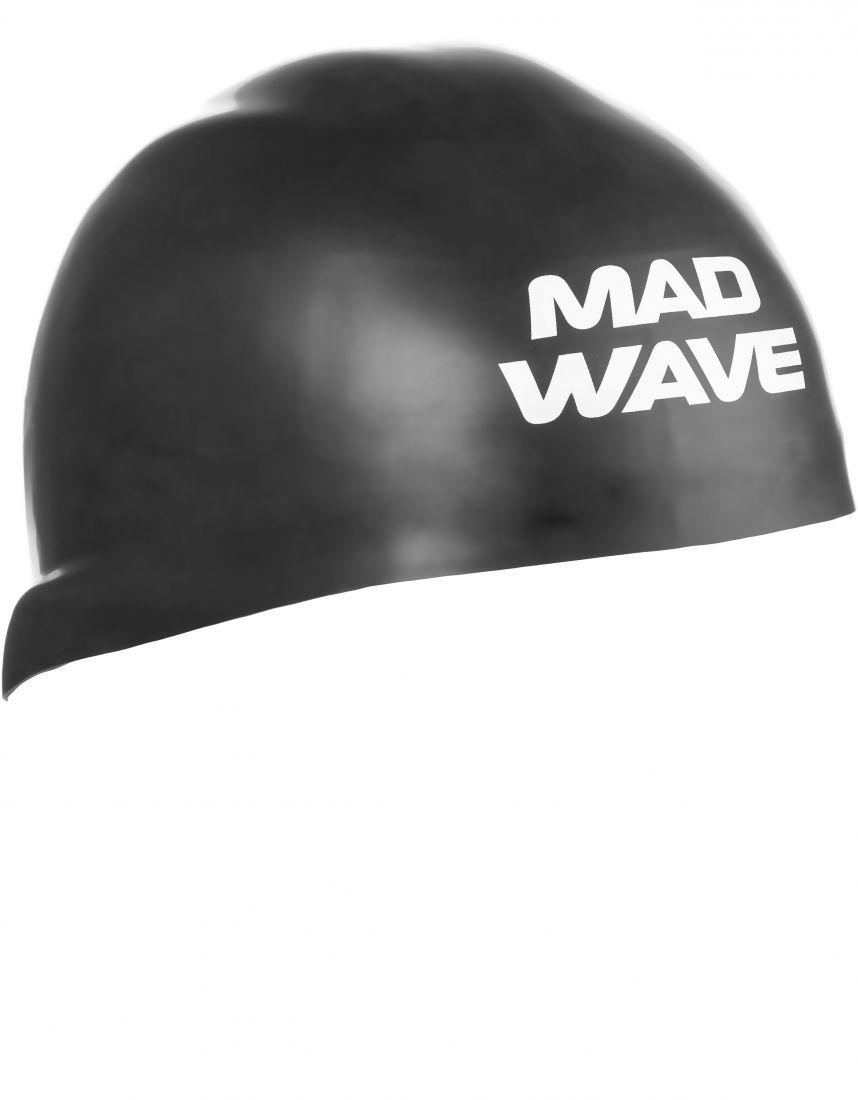 Шапочка для плавания силиконовая Mad Wave D-CAP (черная)