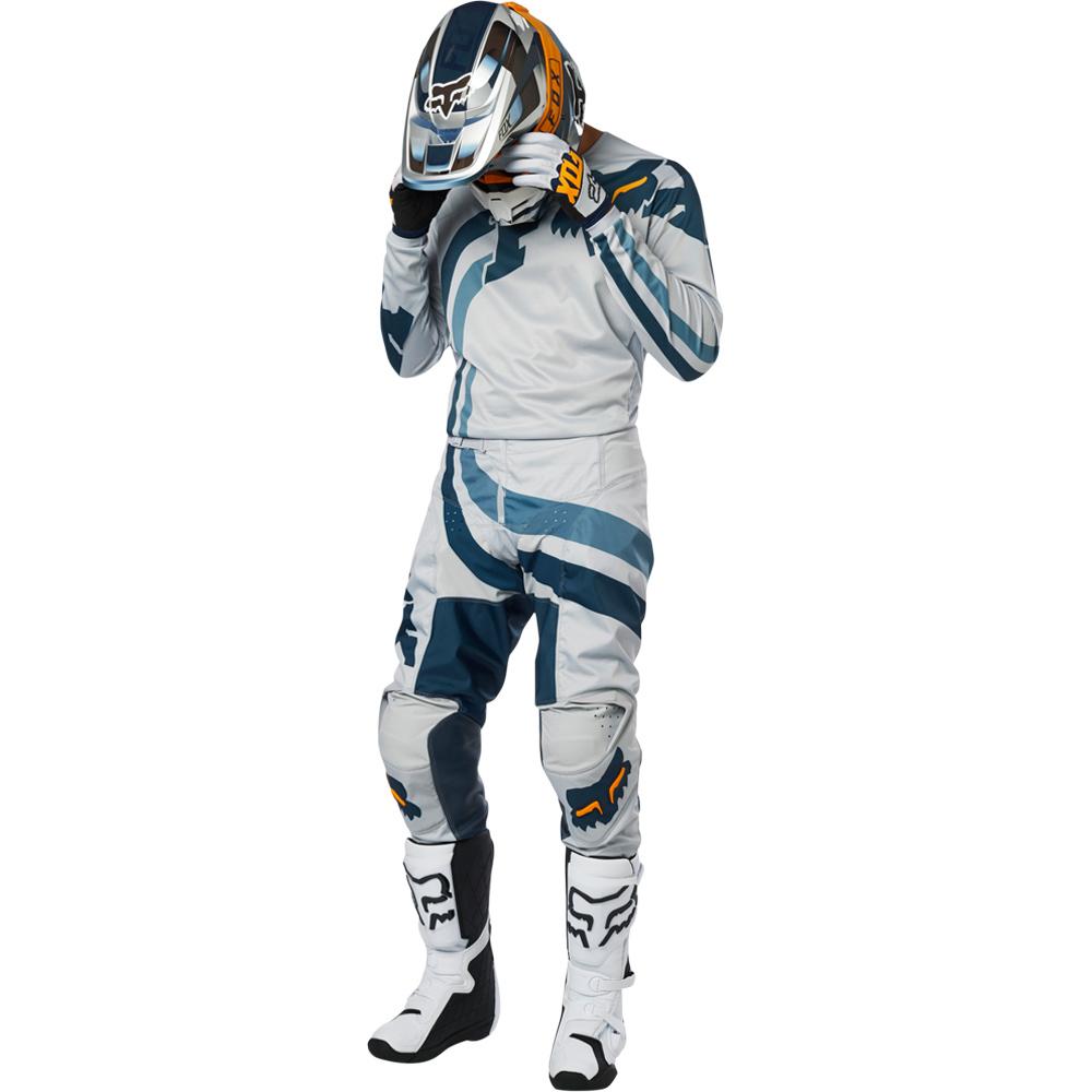 Fox - 2019 180 Cota Grey/Navy комплект джерси и штаны, серо-синие