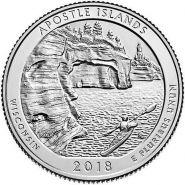 42 ПАРК США - 25 центов 2018 год, Национальный парк Острова Апосл (Apostle Islands)