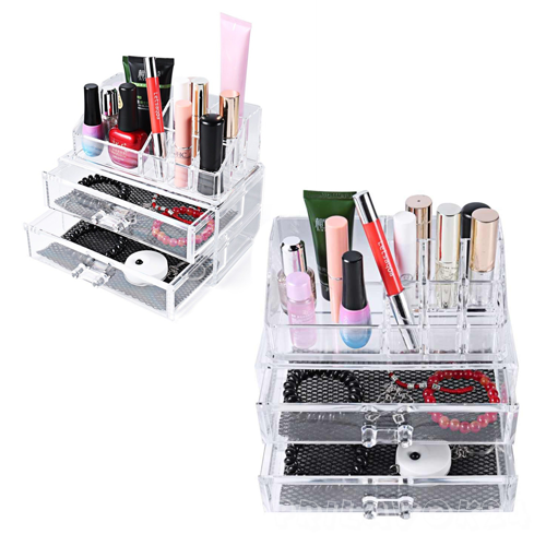 Акриловый органайзер для косметики Cosmetic Storage Box,2 ящика