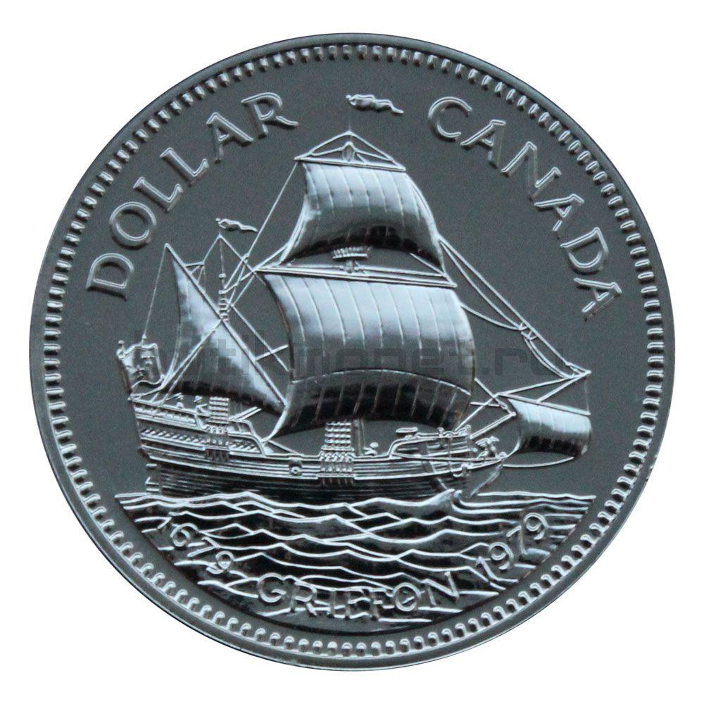 1 доллар 1979 Канада 300 лет кораблю Грифон