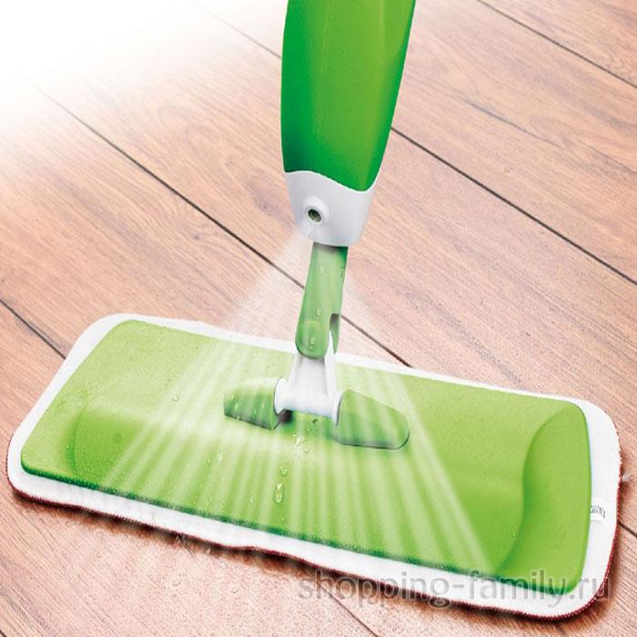 Швабра со встроенным распылителем Healthy Spray Mop, Цвет Зелёный