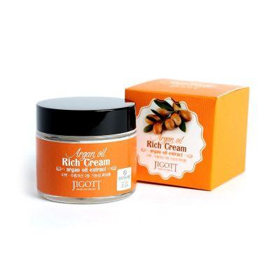 Jigott Rich Cream Argan Oil Крем для лица с аргановым маслом 70 мл
