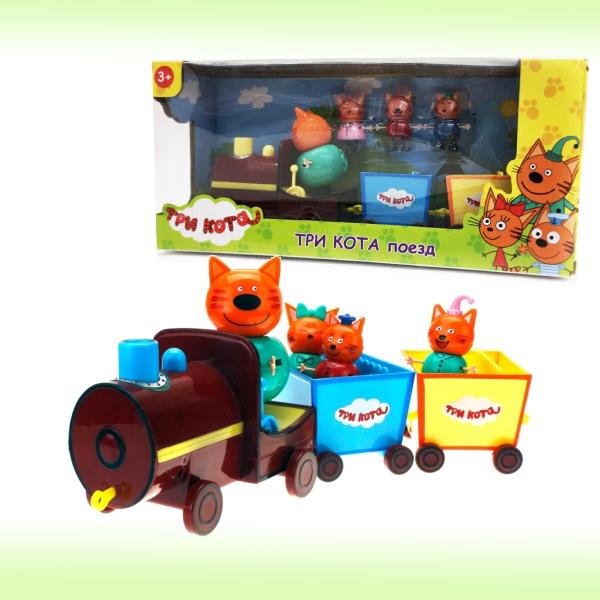 Игровой набор героев из мультфильма Три кота Поезд