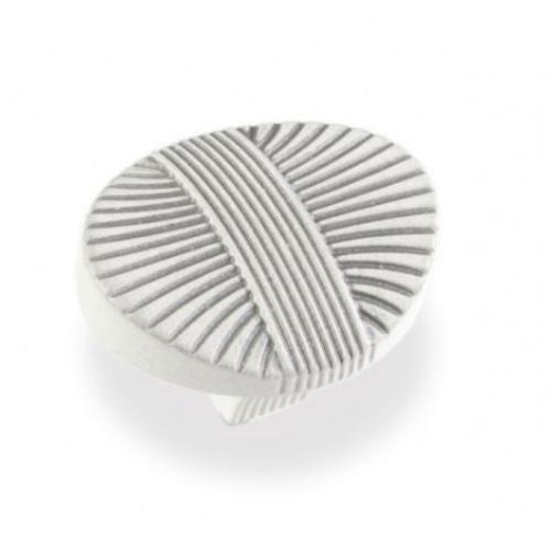 Ручка-грибок FВ-023 000 серебро прованс/9003 белый матовый (TЗ)