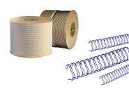 Спираль для переплёта в бобине 1/2, d12,7 мм, шаг 3:1, СИНИЙ