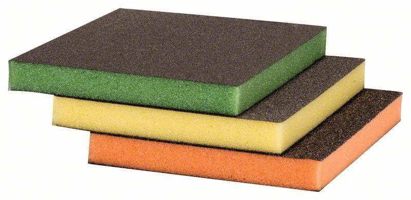 Sia 7983 Siasponge soft Губка двусторонняя 98мм. х 120мм. х 13мм., fine, P500, желтая, (упаковка 10 шт.)