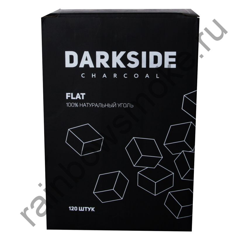 Уголь кокосовый для кальяна DARKSIDE FLAT (120шт)