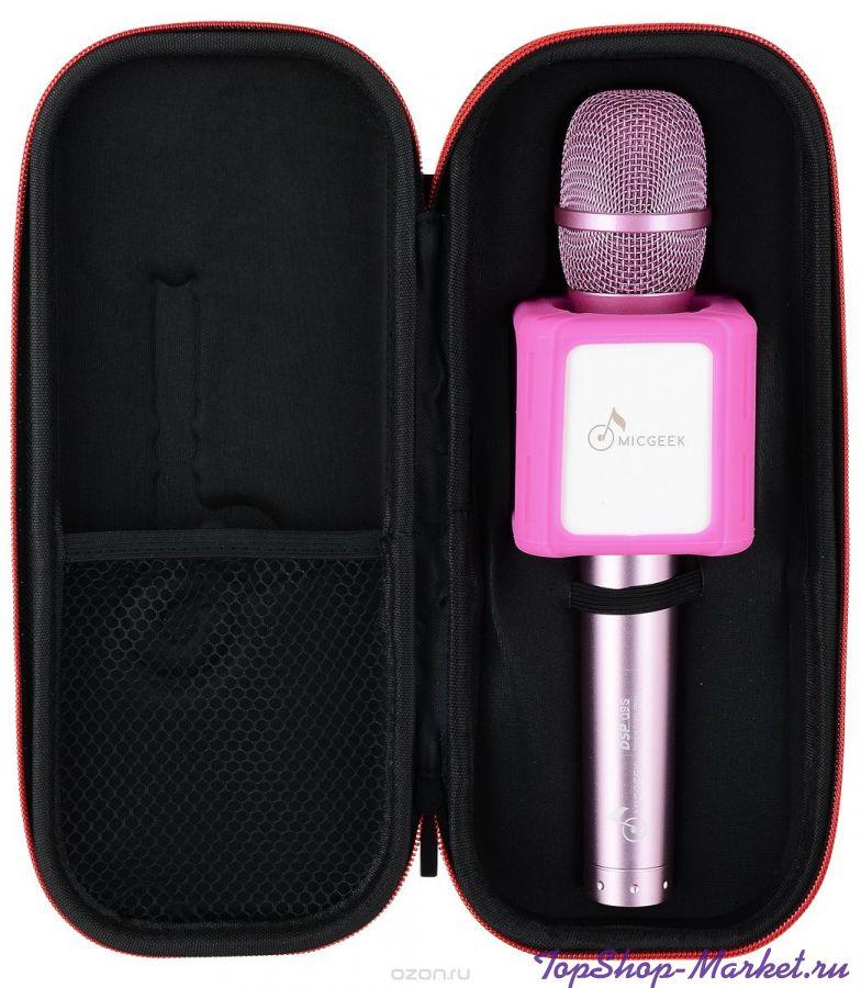 Micgeek Q9 беспроводной микрофон, Цвет: Розовый
