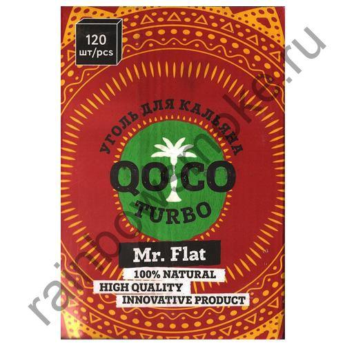 Уголь кокосовый для кальяна Qoco Turbo Mr.Flat (120шт) (Коко Турбо)