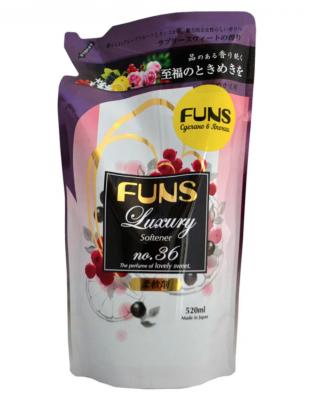 Daiichi Funs Кондиционер для белья с ароматом грейпфрута и черной смородины 520 мл сменный блок