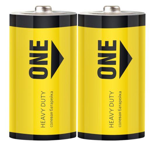 Батарейка солевая Smartbuy ONE R20/2S (24/288)  (SOBZ-D02S)