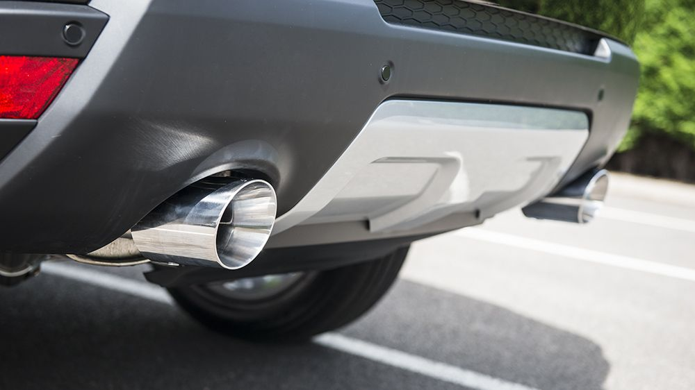 Система выхлопа. Бензин (Ranger Rover Sport 2014)