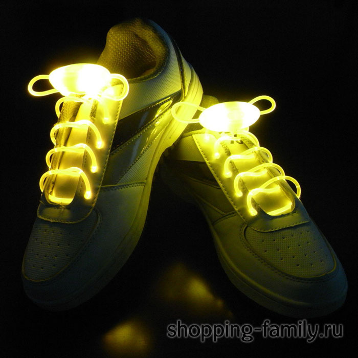 Светящиеся шнурки, цвет Желтый