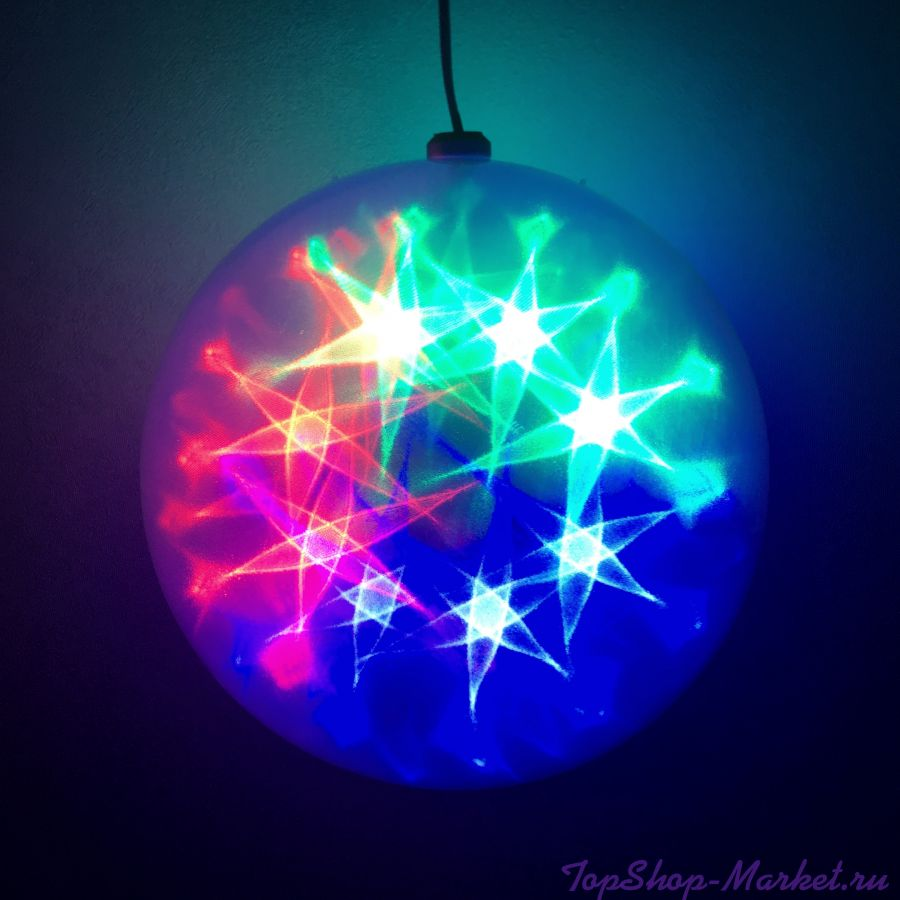 Эксклюзивный шар с LED светодиодами  Ceiling Colourful Star Light, Диаметр: 15 см