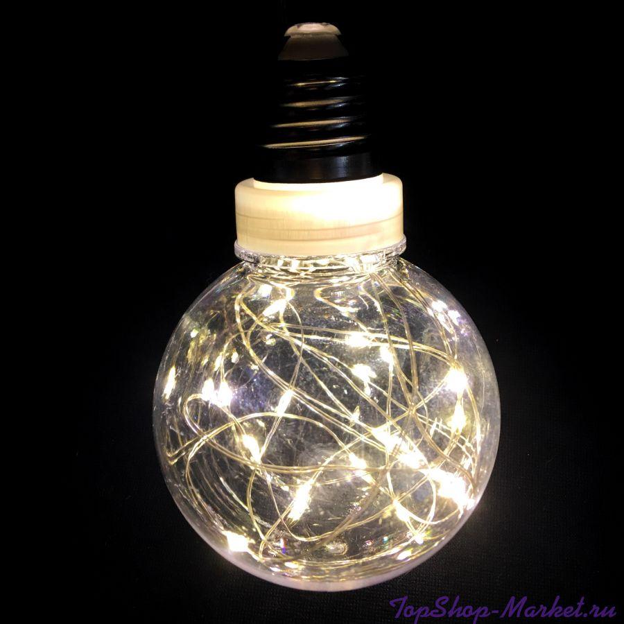 Светодиодная гирлянда Ретро-лампы, 3 м, Цвет: Белый тёплый