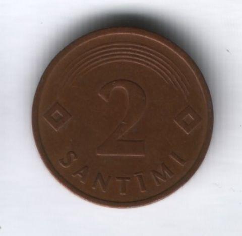 2 сантима 1992 года Латвия