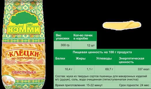 КЭММИ Клецки яичные СВИСТУЛЬКА 300 г