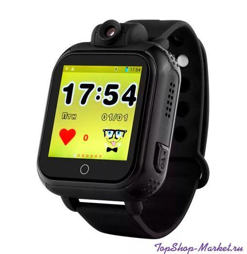 Умные детские часы с GPS Smart Baby Watch GW1000 (G75, Q100), Цвет: Чёрные