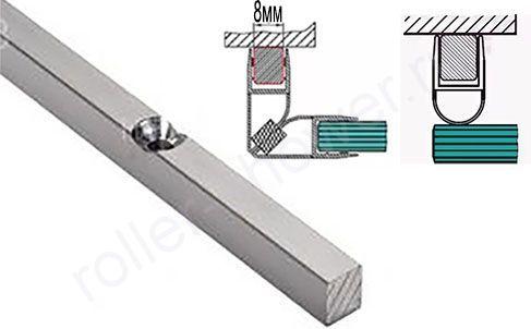 Профиль крепления магнита или уплотнителя к стене, толщина 8мм, длина 2,2м